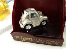 Elgin Collectible mini VW clock in Orig Box