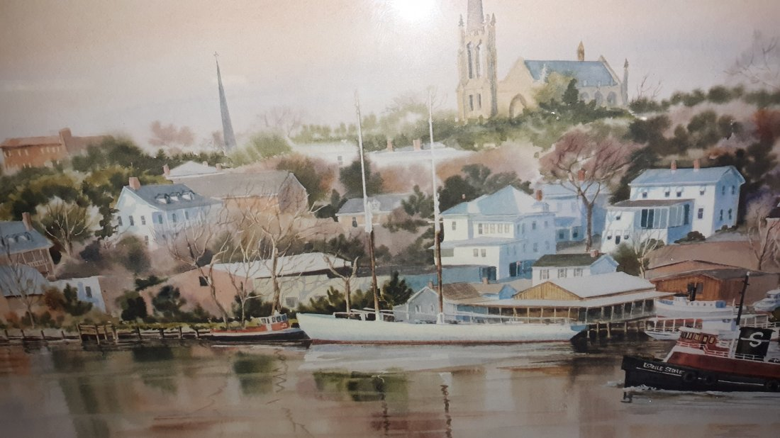 Mary Ellen Golden Lithograph signed/Numbered The Harbor