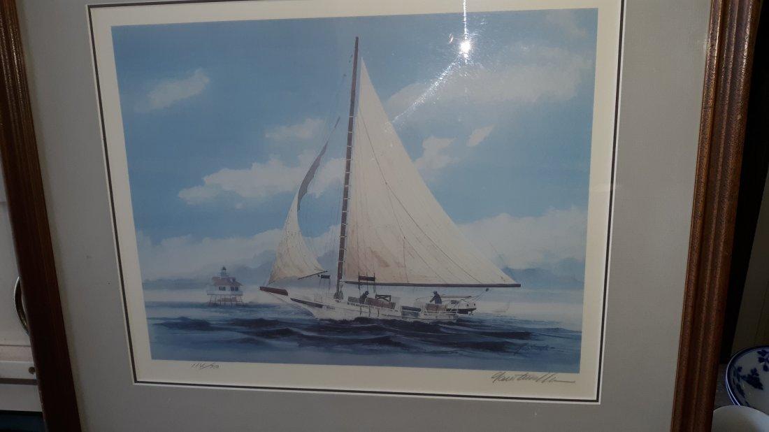 Lithograph Skipjack Sigsbee by Richard Goertemiller sig
