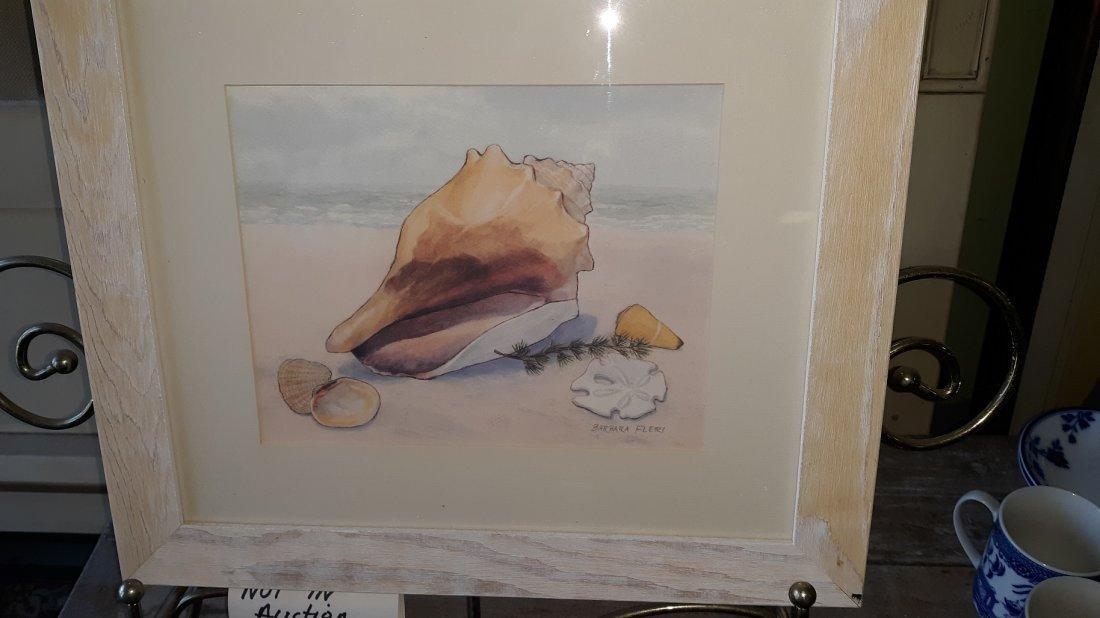 Barbara Fleri Watercolor Print Picture Seashell