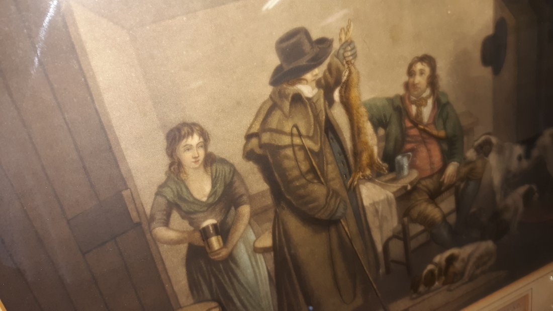 engraving Inside of A Country Ale House 1800