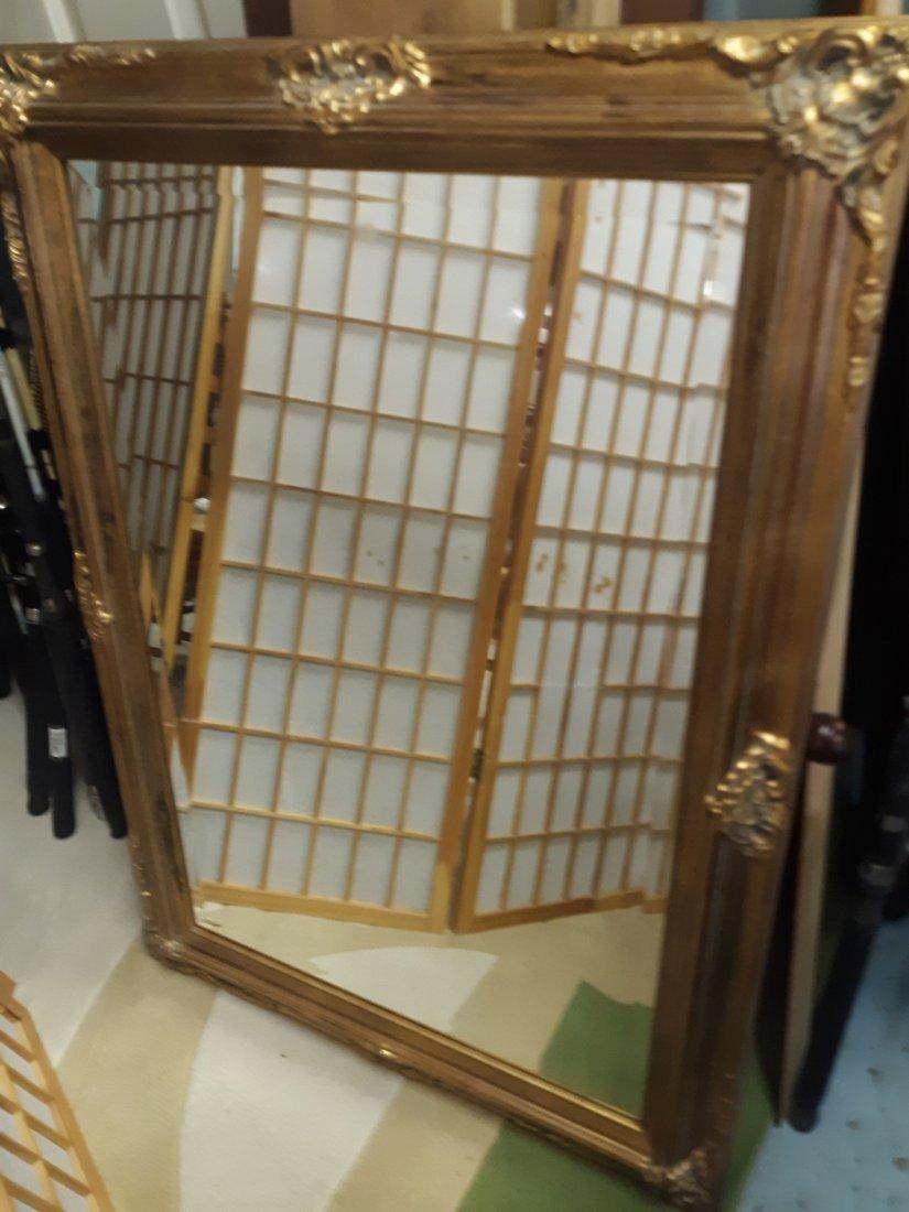gorgeous gold beveled Large mirror