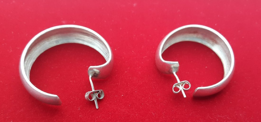 Taxco Mexico Mid Century Sterling Earrings