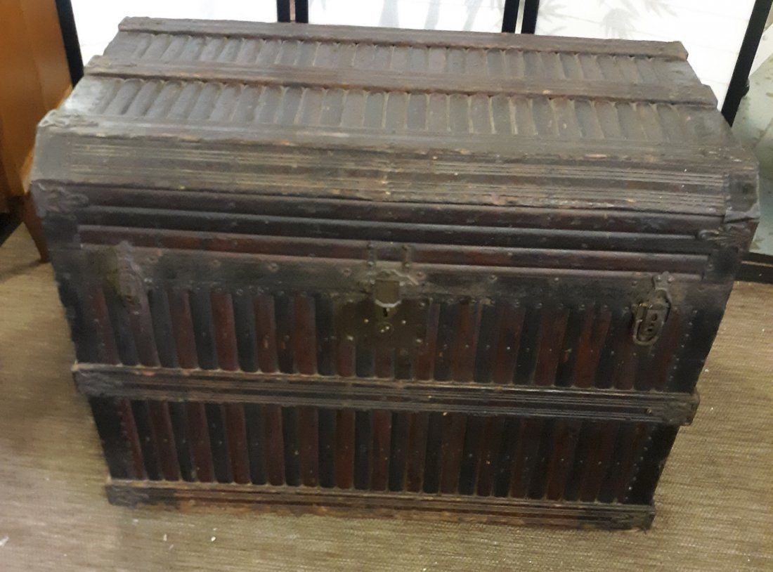 Early 1800's Sea Chest Coffer trunk