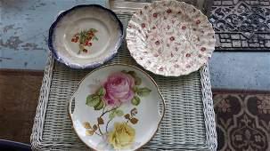 China Lot of 3 plates Bavaria, copeland, +