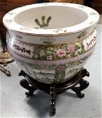 Vintage oriental Koi Fish Bowl planter /stand