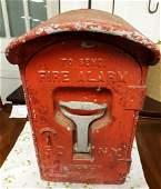Antique FD NY Call box w/internals & Key LQQK!