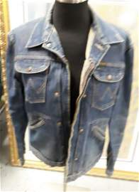 Vintage Wrangler 1960's Zipup Selvedge Denim Jacket sz
