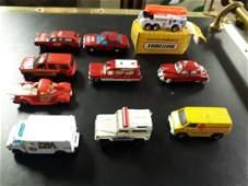 die cast lot of 10 matchbox cars  fire
