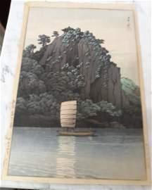 Rare Japanese Woodblock by Kawase Hasui orig signed!