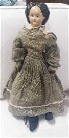 """rare 25"""" Greiner Papier Mache 1858 Doll"""