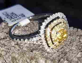 rare natural fancy yellow diamond ring appraisal $5990.