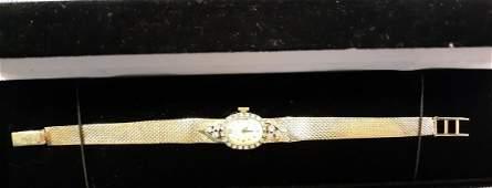 Hamilton 14K solid Watch & !4k Band w/Diamonds 1960's!