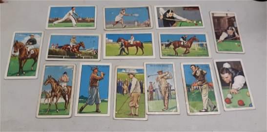 Gallaher Park Drive Antique Tobacco cards,pool, 14 pcs