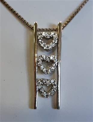 Sterling Journey Ladder Hearts Necklace w/diamonds?