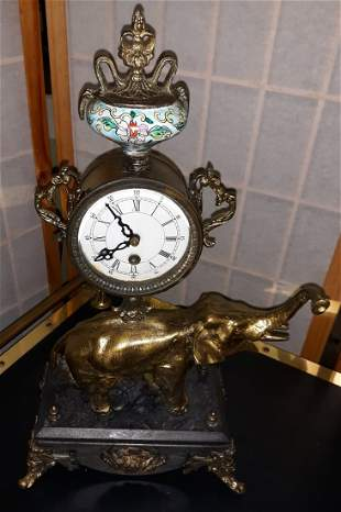 French 19th Century louis XVI style Elephant Clock