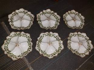 T&V Limoge oyster plates set of 6!