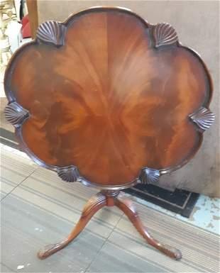 "Antique Rosewood Tilt top Table 28"""