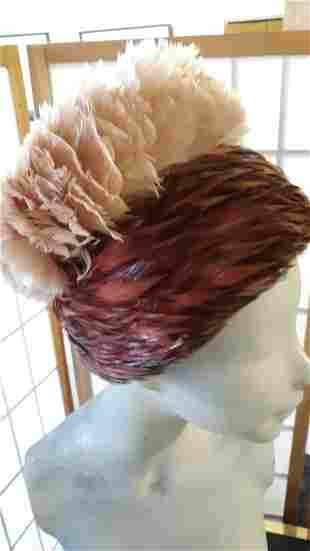 Vintage  ladies Feather Hat