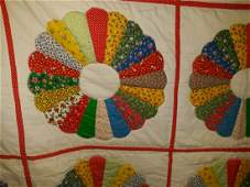 Vintage hand made quit Pinwheel signed by artist!