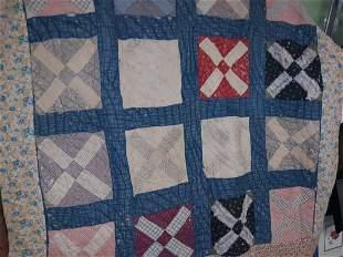"antique quilt hand made  63"" x 63"""