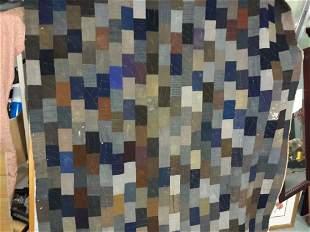 "antique hand made patchwork quilt 62"" x 74"""