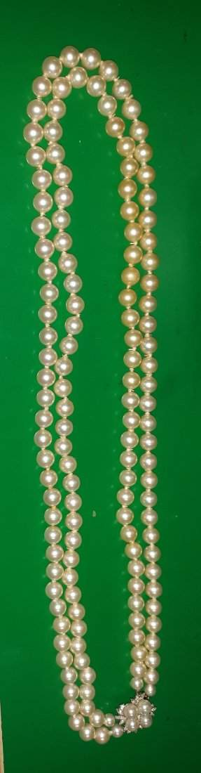 Pearls Necklace estate hand tied Gorgeous!