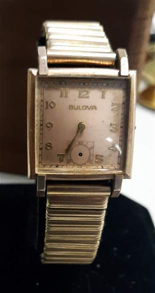 Watch rare 1946 Bulova 17 jewel 14K rgp Nice!