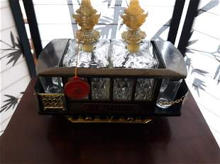 Vintage Decanter Trolley Car w/Music Box! working