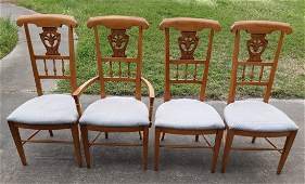 Pennsylvania house? wheat back dining chairs 4 x bid