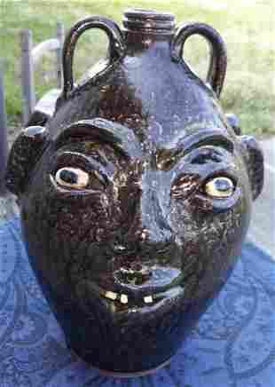 Rare Marvin Bailey Double Face Jug SC Pottery