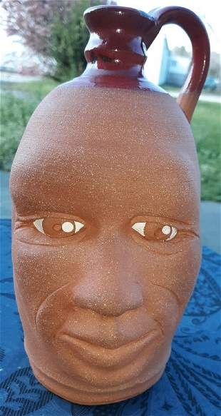 Yvette Lepley Pottery Face Jug #337 So Cool!