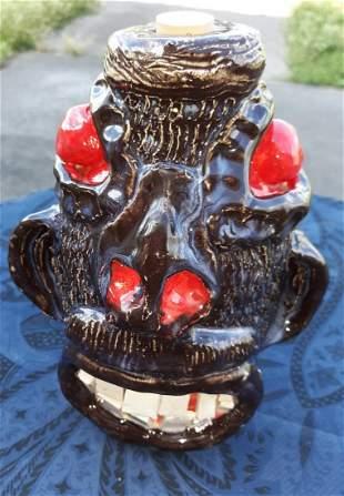 "Ben Watford Crazy face Jug Pottery 8"""