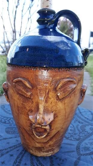"""Ken Poole Rockhouse Pottery Jug 1991 10 1/2"""" Eva"""