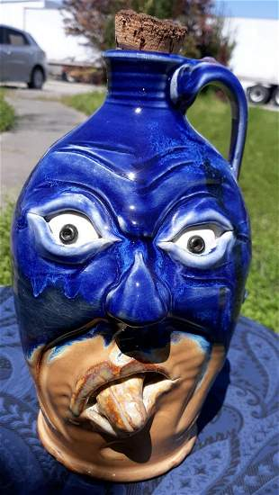 Face Jug Pottery 2016 by Voitt? Masked, tongue out
