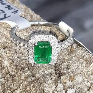 Emerald & Diamond Platinum Ring W/Appraisal $4,960