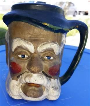 "Mongin rare 1953 face mug pottery  jug 5"""