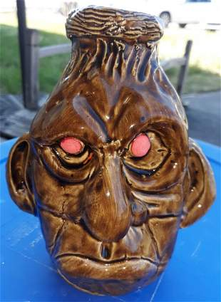 """Ben Watford Pottery face jug 2020 7 1/2"""""""