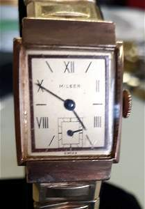Milber Tank watch rose gold 14K 1950's