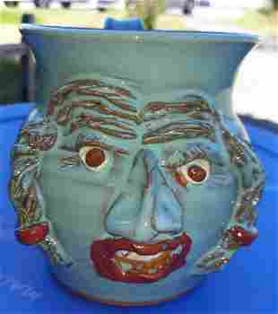 Jeff Potts Seagrove Pottery Face Jug Mug
