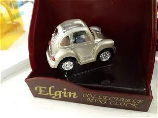 Elgin Clock Collectible Mini VW in orig box