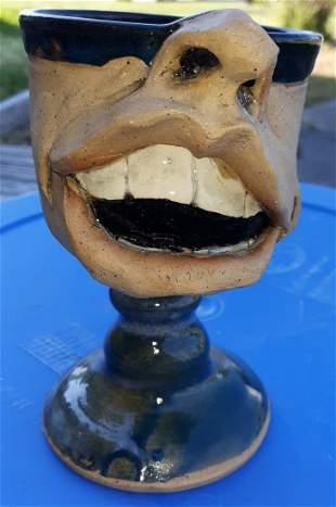 Edy Pottery Crazy face mug jug