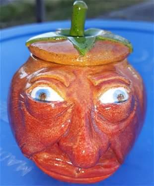Susi Nogada Berquist pottery Face pot Jar
