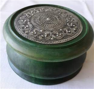 estate carved wood box Thailand! beautiful