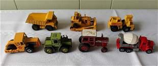 vintage matchbox collection construction vehicles 7pcs