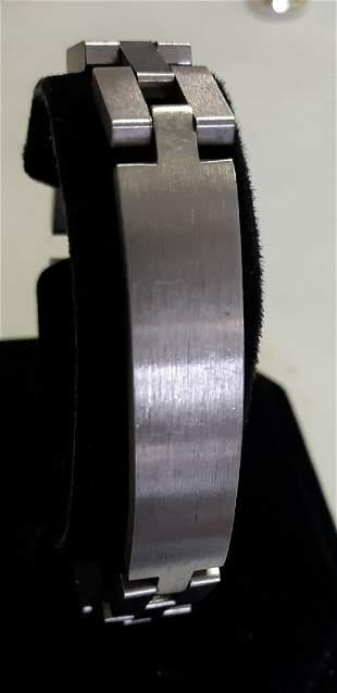 """mid century speidel brushed 8"""" stainless steel bracelet"""