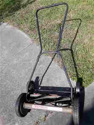 "craftsman 18"" scissor cut push mower works!"