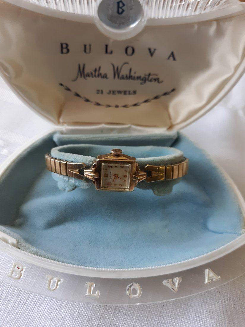 Bulova rare 1957 Martha Washington Watch w/cases!