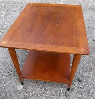 Lane mid century walnut & fruitwood end table