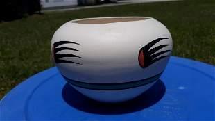 Native American Indian Kopa Pottery Pot Vase signed